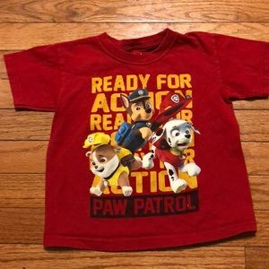 Paw Patrol t shirt size 4t red characters
